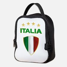 Soccer Crest ITALIA gold Neoprene Lunch Bag