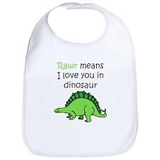 Rawr Means I Love You In Dinosaur Bib