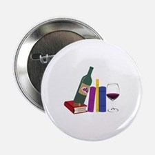 """Books And Wine 2.25"""" Button (100 pack)"""