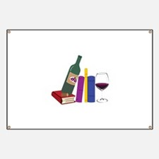 Books And Wine Banner