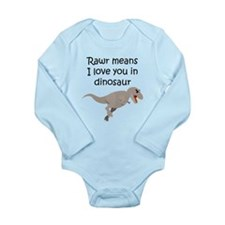 Rawr Means I Love You In Dinosaur Body Suit