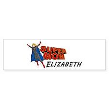 Supermom Elizabeth Bumper Bumper Sticker