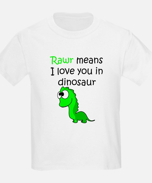 Rawr Means I Love You In Dinosaur Kid's Clothing | Rawr ...