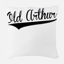 Old Arthur, Retro, Woven Throw Pillow