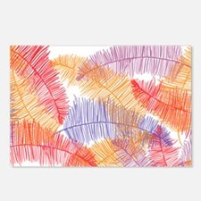 Coloured Feathers Postcards (Package of 8)