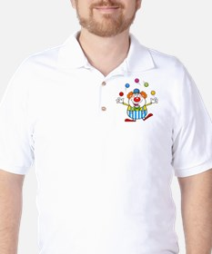 Silly Juggling Cute Clown Cartoon T-Shirt