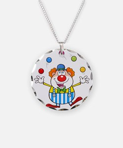 Silly Juggling Cute Clown Ca Necklace