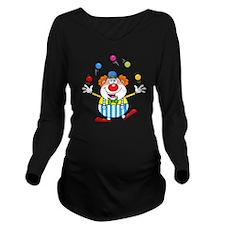 Silly Juggling Cute  Long Sleeve Maternity T-Shirt
