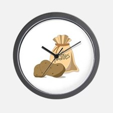 Potatoes Wall Clock