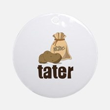 potatoes tater Ornament (Round)