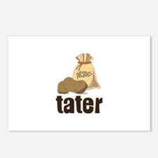 potatoes tater Postcards (Package of 8)