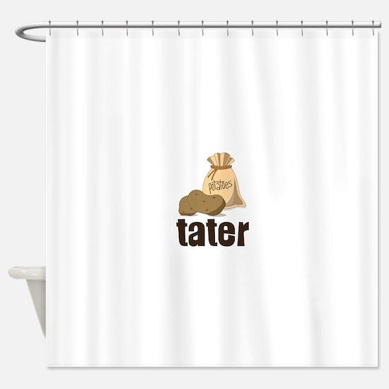 potatoes tater Shower Curtain
