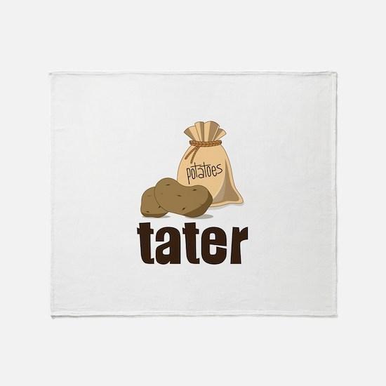 potatoes tater Throw Blanket