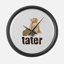 potatoes tater Large Wall Clock