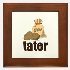 potatoes tater Framed Tile