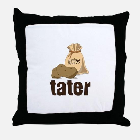 potatoes tater Throw Pillow