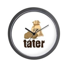 potatoes tater Wall Clock