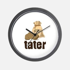 potatoes tater Wall Clock