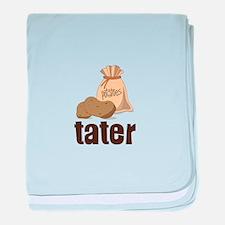 potatoes tater baby blanket