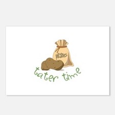 Potatoes tater time Postcards (Package of 8)