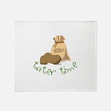 Potatoes tater time Throw Blanket
