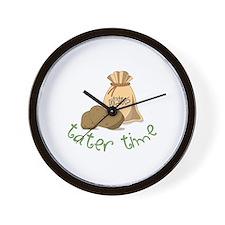 Potatoes tater time Wall Clock