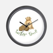 Potatoes tater time Wall Clock