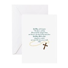 Hail Mary Greeting Cards