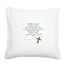 Hail Mary Square Canvas Pillow