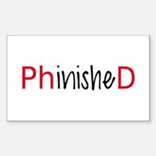 Phinished, PhD graduate Decal