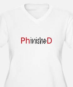 Phinished, PhD graduate Plus Size T-Shirt