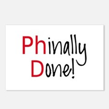 Phinally Done PhD graduate Postcards (Package of 8