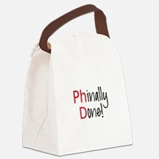 Phinally Done PhD graduate Canvas Lunch Bag