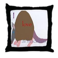 Luv armadillo  Throw Pillow