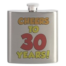 Cheers To 30 Years Glass Flask