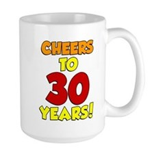 Cheers To 30 Years Glass Mugs