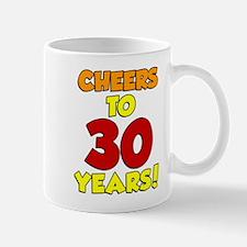 Cheers To 30 Years Glass Mugs