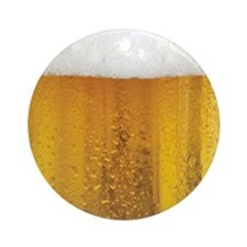 Very Fun Beer and Foam Design Ornament (Round)