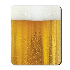 Very Fun Beer and Foam Design Mousepad