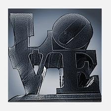 Philadelphia Love Statue Tile Coaster