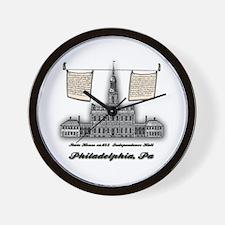 Philadelphia Landmarks Independence Wall Clock