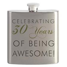 Celebrating 30 Years Drinking Glass Flask