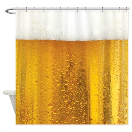 Very Fun Beer and Foam Design Shower Curtain
