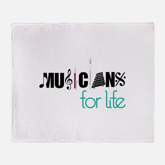 Musicians For Life Throw Blanket