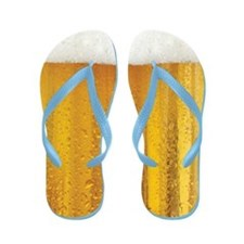 Very Fun Beer and Foam Design Flip Flops