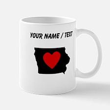 Custom Iowa Heart Mugs