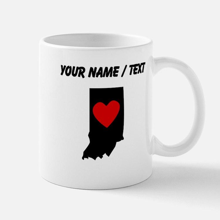 Custom Indiana Heart Mugs