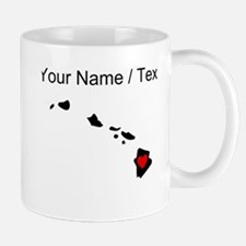 Custom Hawaii Heart Mugs