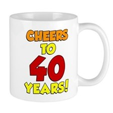 Cheers To 40 Years Drinkware Mugs