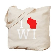 I Heart Wisconsin Tote Bag